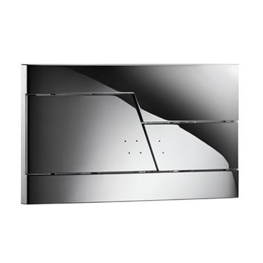 Drench Premium Zone Flush Plate - Chrome